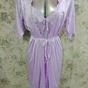 Women sleepwear night gown with inner