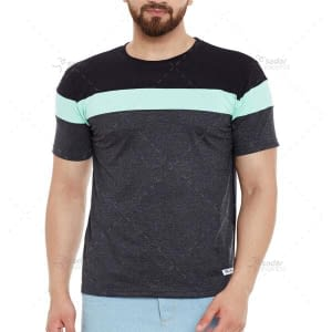 dual color men's t shirt soft jersey