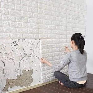 Pack of 5 3D wall sticker foam 70x77cm