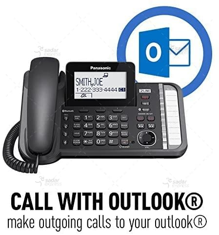 panasonic kx-tg9582b 2-line corded/cordless phone system with 2 handsets 5