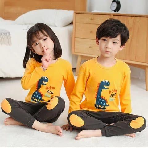 kids nightwear sleepwear soft cotton night suits for boys & girls 10