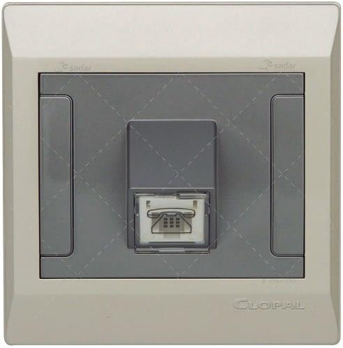 clopal switch board 1 telephone metallic gold 1