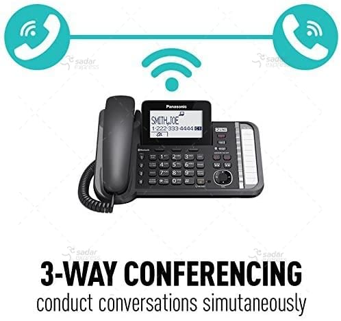 panasonic kx-tg9582b 2-line corded/cordless phone system with 2 handsets 2