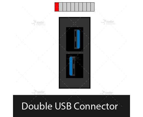 clopal tabletop popup socket bs-105/bk double usb usb connector 1