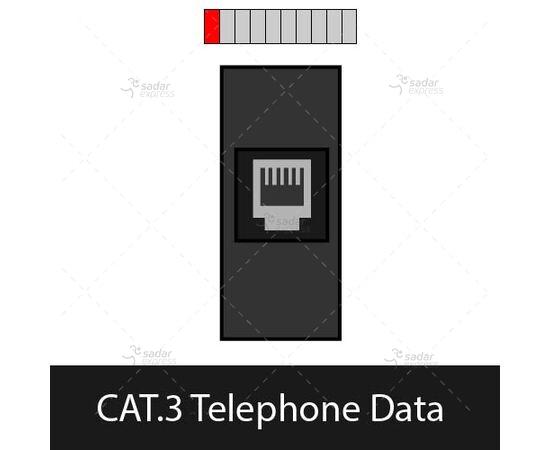 clopal tabletop popup socket bs-105/bk cat.3 telephone data 1