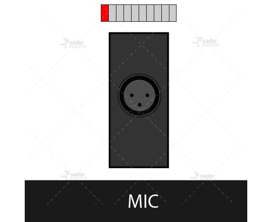 clopal tabletop popup socket bs-105/bk mic input 1