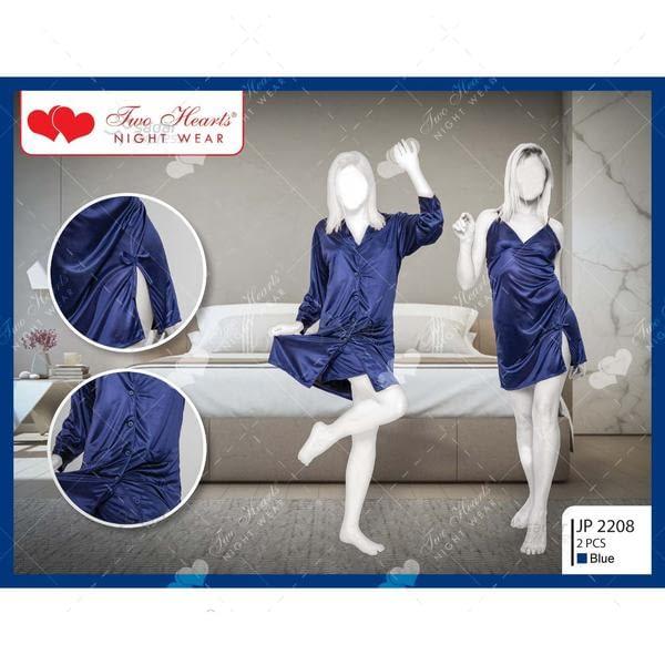two hearts 2 piece silk nightwear & lingerie for girls & women jp2208 1