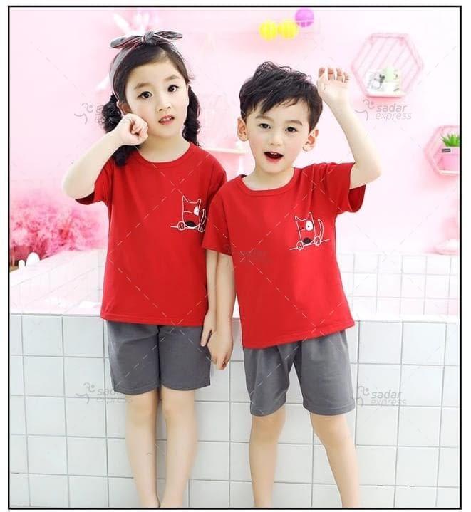 kids nightwear sleepwear soft cotton night suits for boys & girls 2