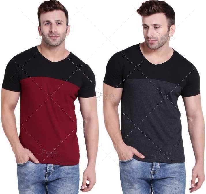 dual color men's t shirt soft jersey 1