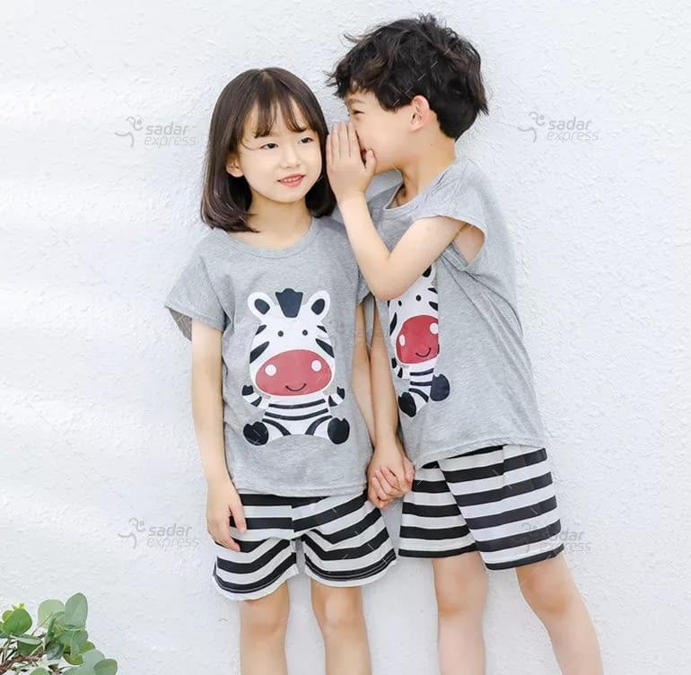 kids nightwear sleepwear soft cotton night suits for boys & girls 9