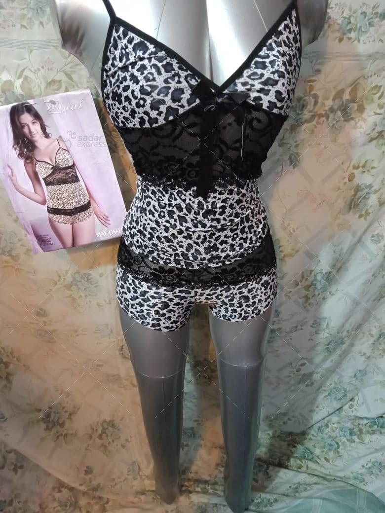 tiger print nighty for women honeymoon night suit 1