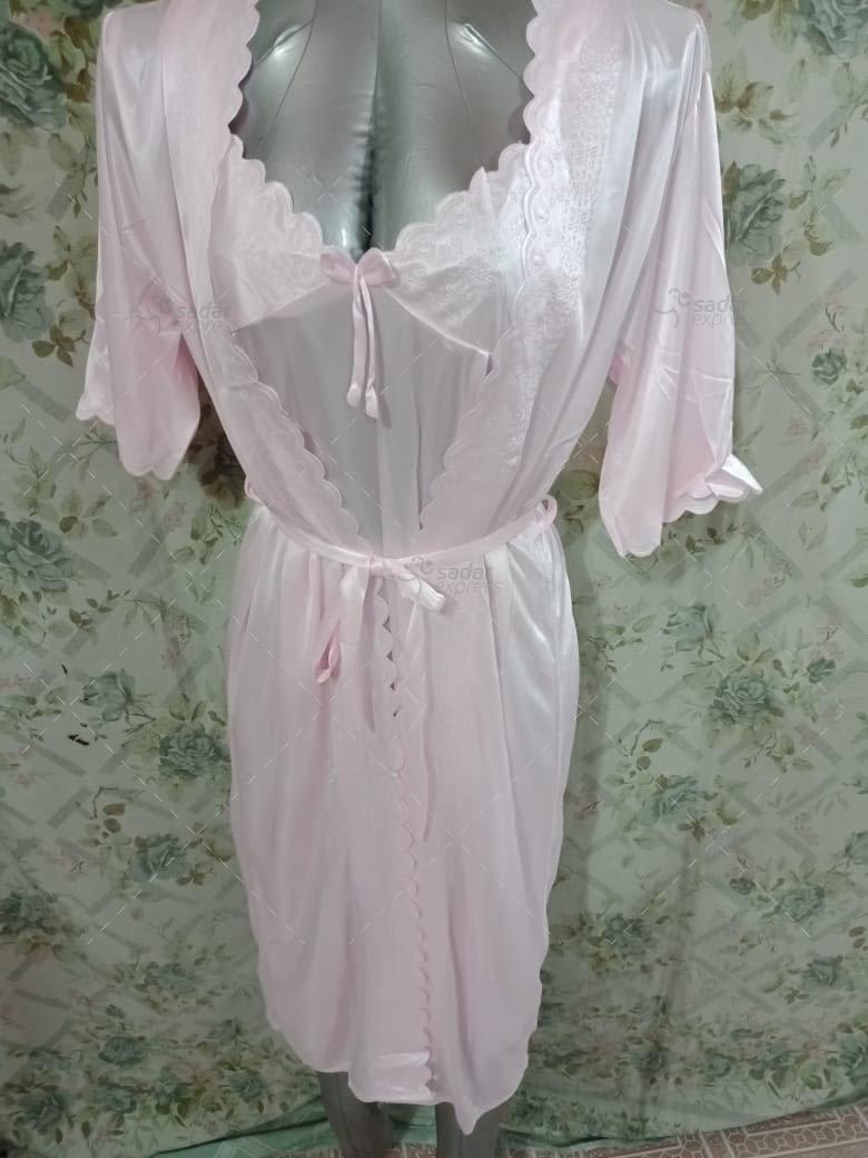 women sleepwear night gown with inner 2