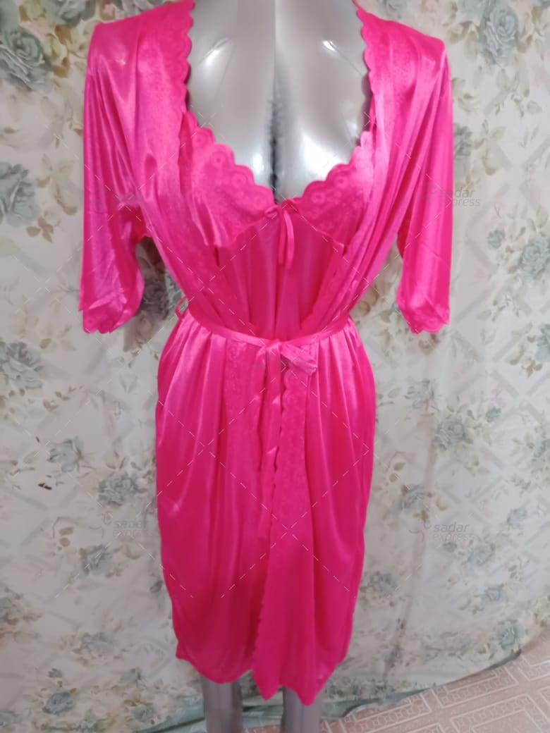 women sleepwear night gown with inner 3