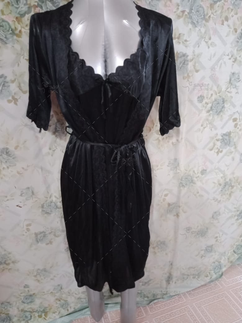 women sleepwear night gown with inner 1