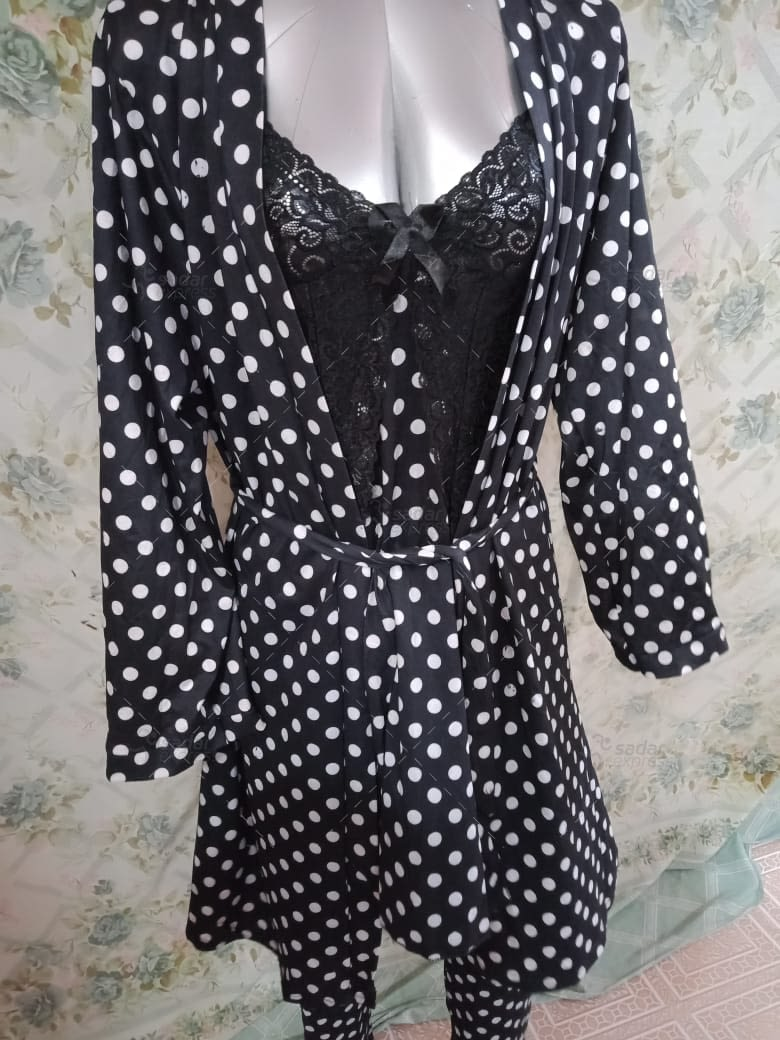 polka dots gown sexy night suite #138311 1