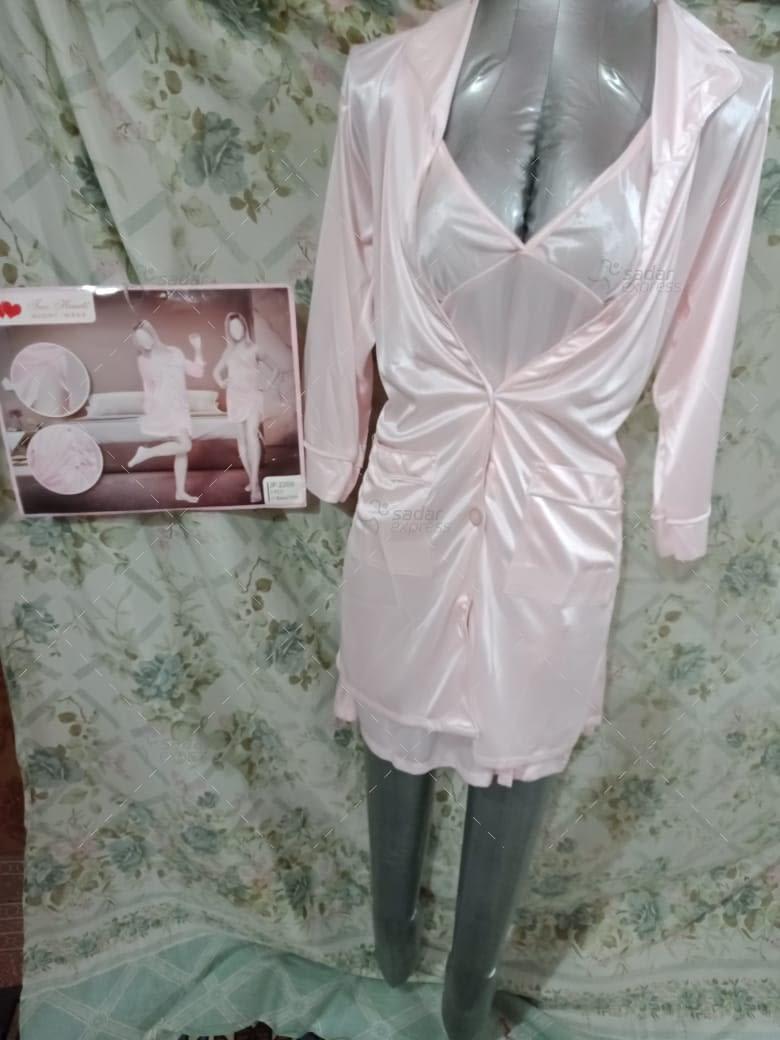 two hearts 2 piece silk nightwear & lingerie for girls & women jp2208 2