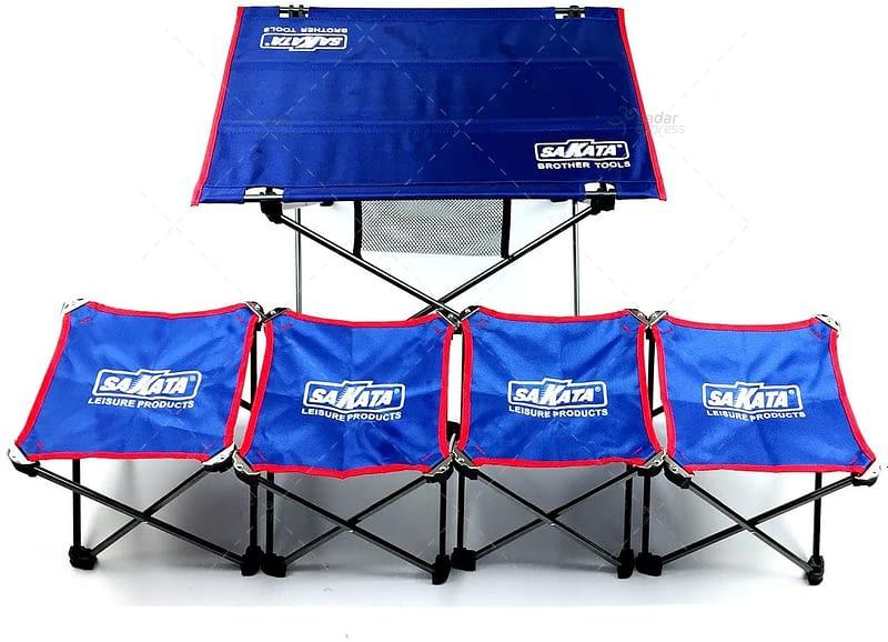 sakata folding table with stools set 3