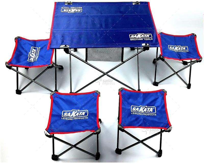 sakata folding table with stools set 2