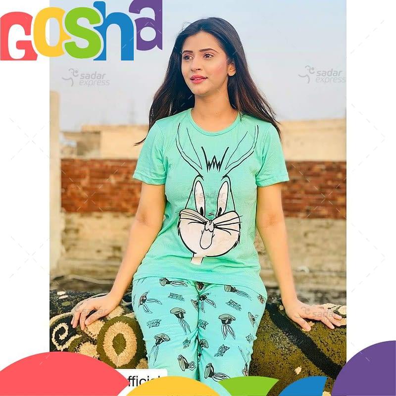 aqua green pajama set women two-pieces long sleeve sleepwear 1