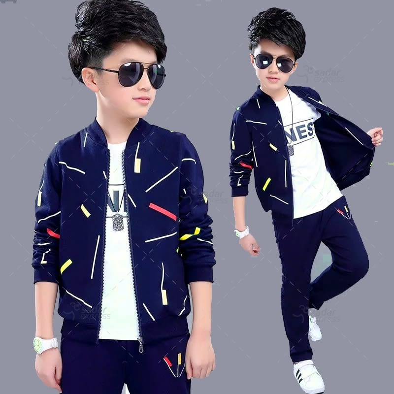 kids printed track suit fleece fabric for winter 1