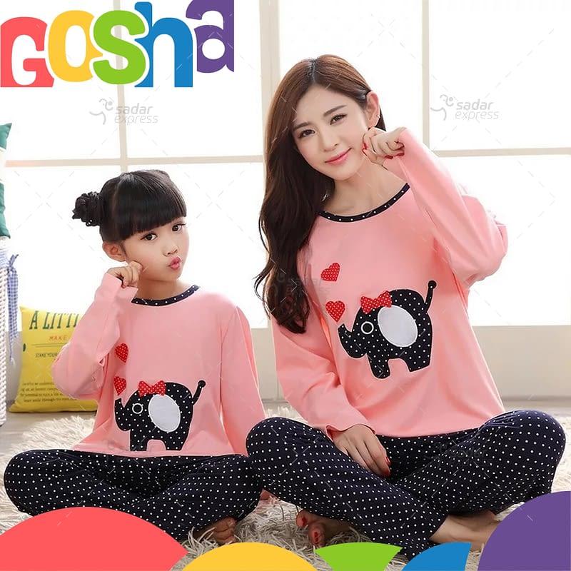 pink elephant kids nightwear sleepwear soft cotton night suits for boys & girls 1