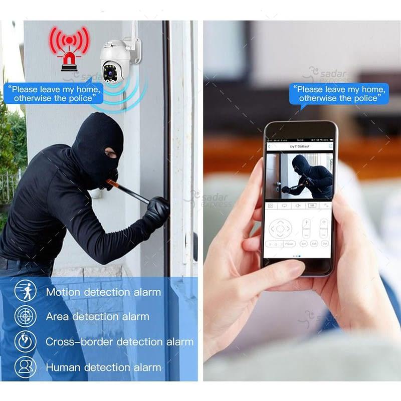 outdoor/indoor smart security camera 8 light ball machine monitoring wireless wifi camera 8