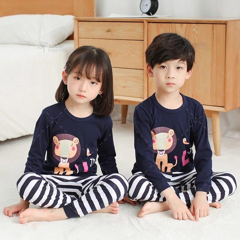 kids nightwear sleepwear soft cotton night suits for boys & girls 7