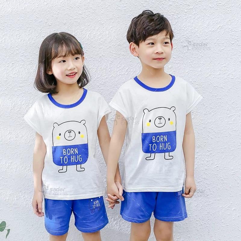 kids nightwear sleepwear soft cotton night suits for boys & girls 4