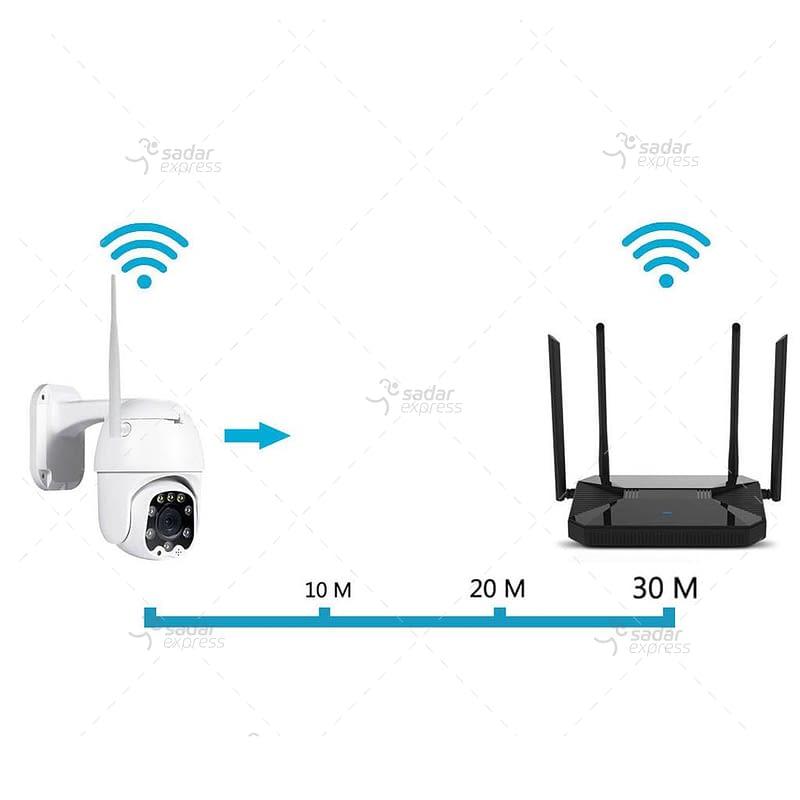 outdoor/indoor smart security camera 8 light ball machine monitoring wireless wifi camera 6
