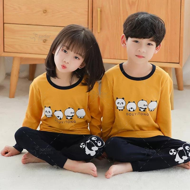 kids nightwear sleepwear soft cotton night suits for boys & girls 1