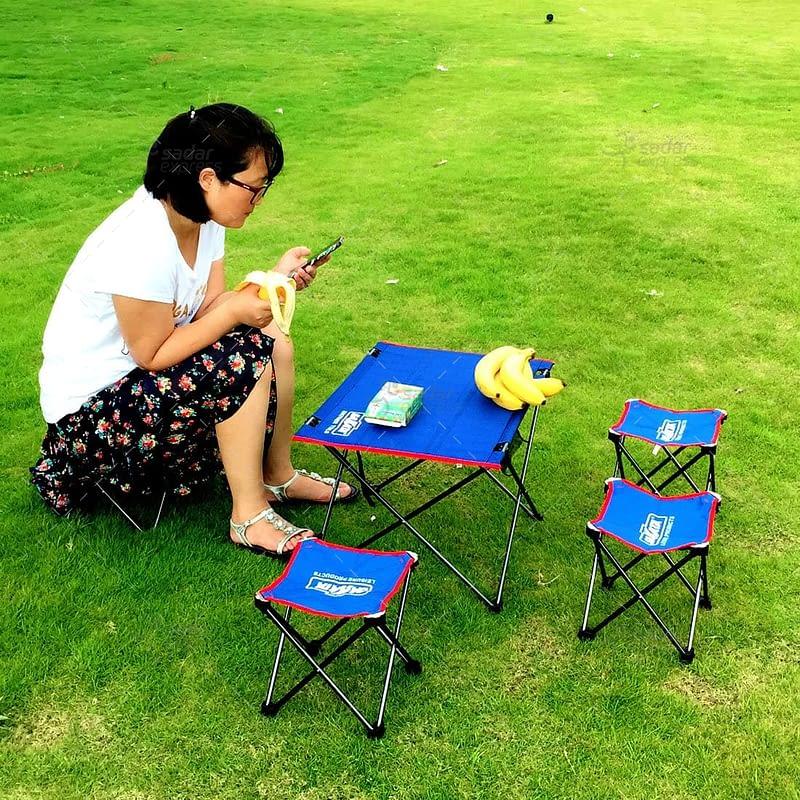 sakata folding table with stools set 6