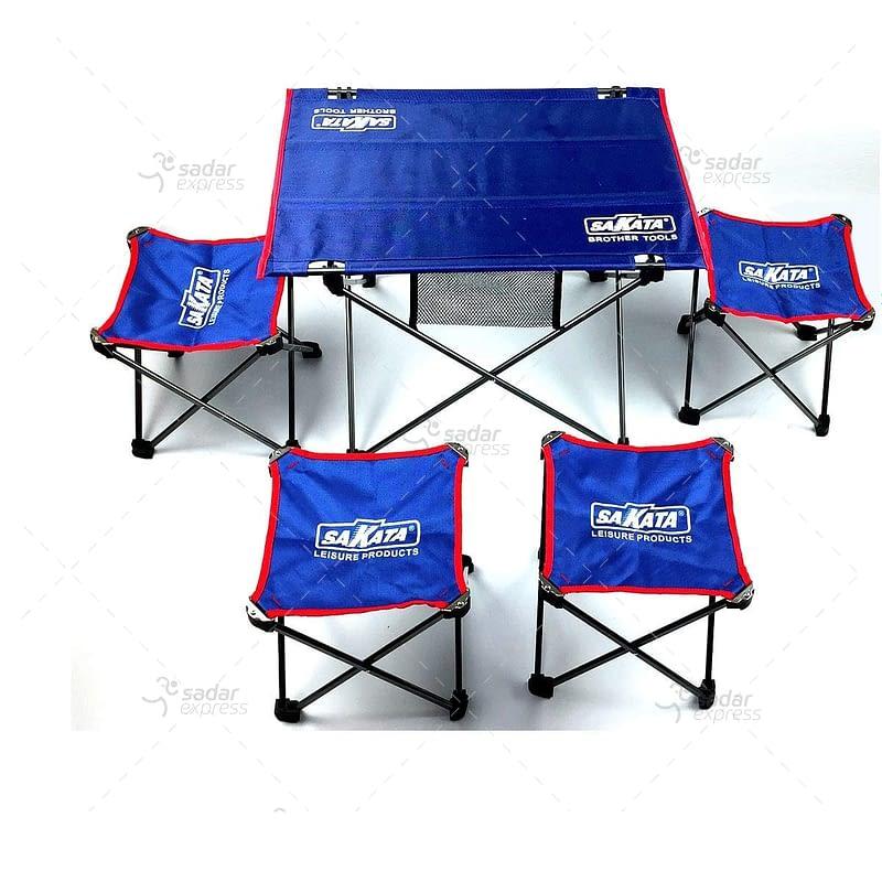 sakata folding table with stools set 5