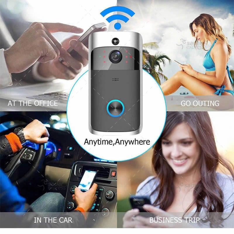 video doorbell wireless wifi smart phone camera door bell intercom ring security 6