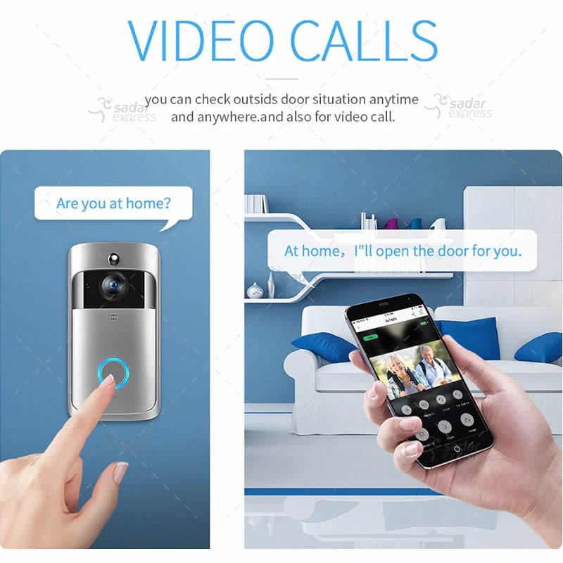 video doorbell wireless wifi smart phone camera door bell intercom ring security 1