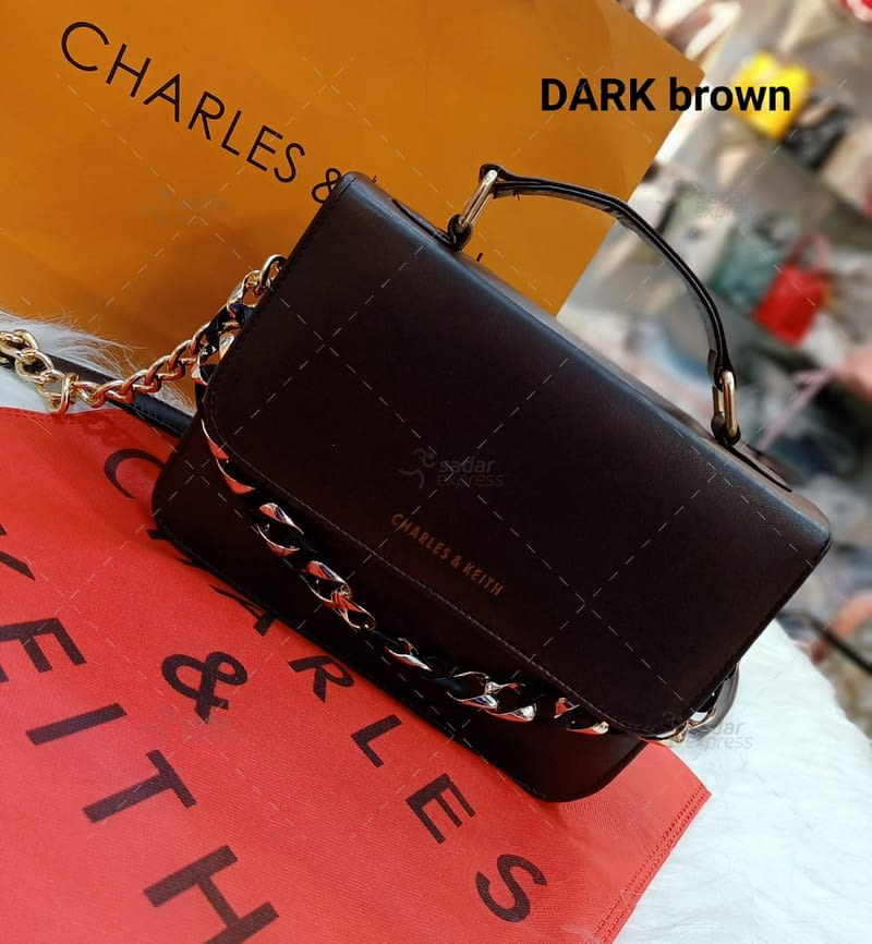 beautiful leather cross body with long chain purse with brand bag 144827 1