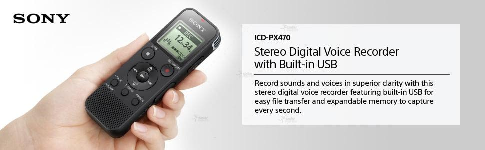 sony icd-px470 digital voice recorder with built-in usb 6