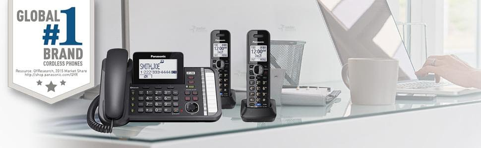 panasonic kx-tg9582b 2-line corded/cordless phone system with 2 handsets 6
