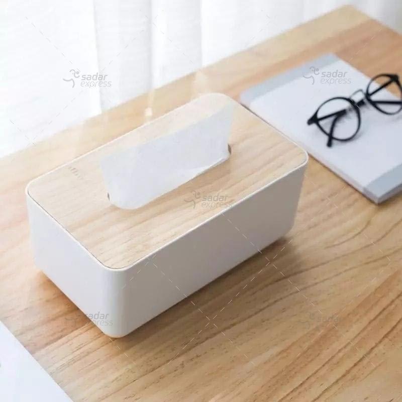 wooden material tissue box regular size 1