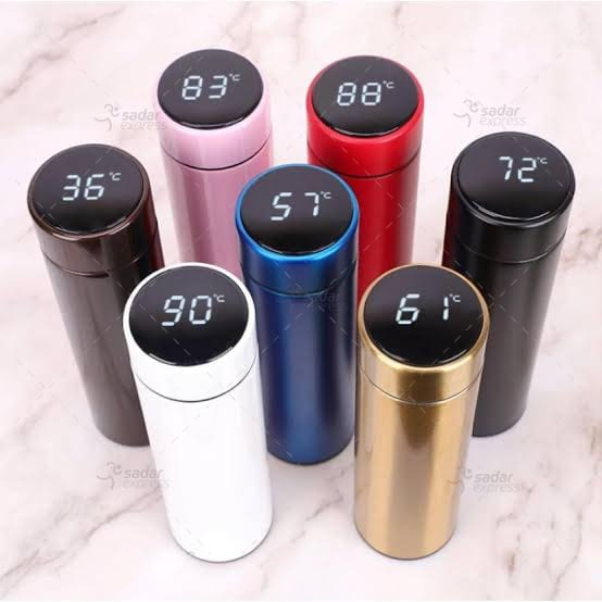 hot and cool water bottle temperature display 500ml 1