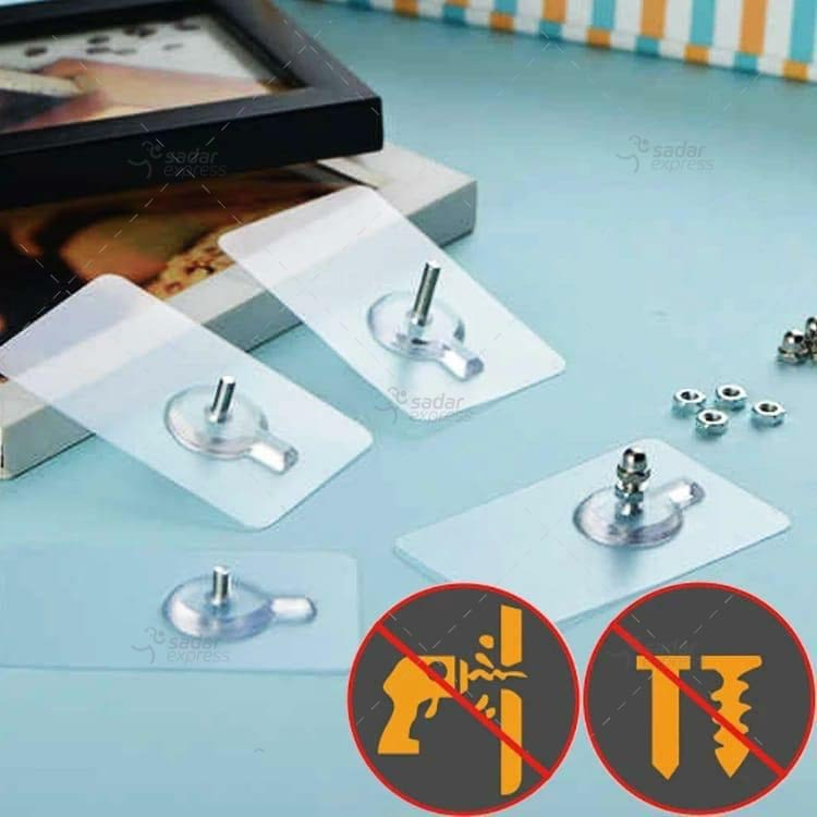 pack of 5 self adhesive wall hooks no drilling 1