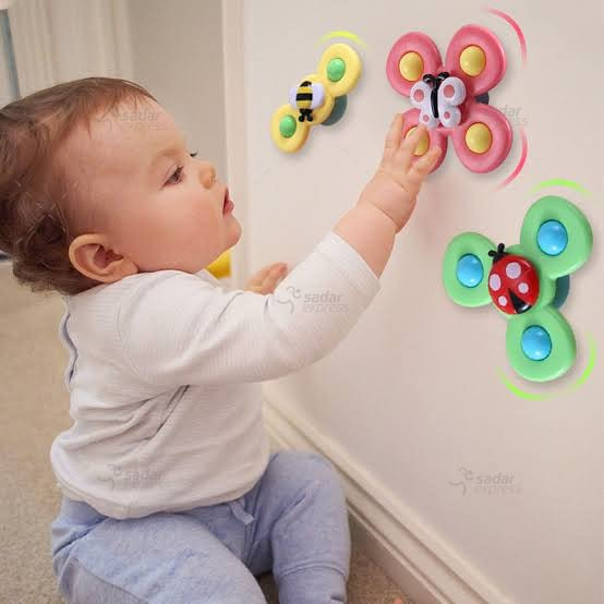 pack of 3 baby spinner toy