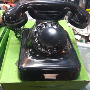 Retro Black Landline Telephone