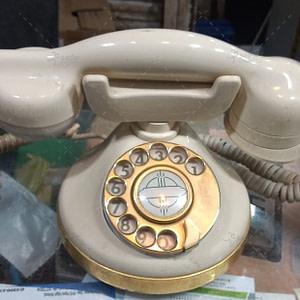 Retro landline phone rotary dial