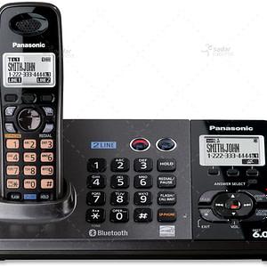 Panasonic KX-TG9385 2-Line Expandable Cordless Phone and Answering System, Metallic Black, 1 Handset