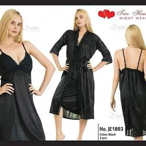 Sexy 2 Piece Silk Nightwear