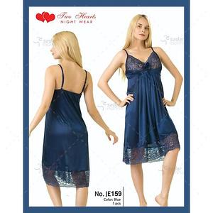 Two Hearts 1 Piece Silk Nightwear