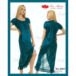 Two Hearts 1 Piece Silk Nightwear For Girls & Women JE001