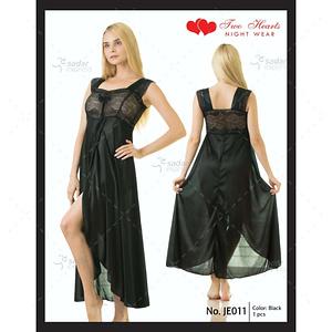 Two Hearts 1 Piece Silk Nightwear & Lingerie For Women & Girls JE011