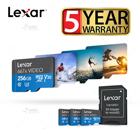 Lexar® 16GB Professional 667x VIDEO microSDXC™ UHS-I Card