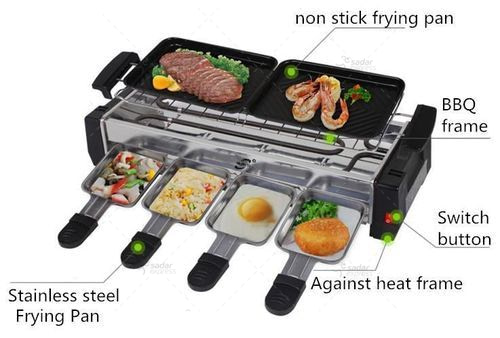 Portable Bbq Barbecue Electric Griller Non Stick 1200W HY-9099